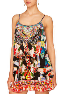 CAMILLA STAR GIRL FLARED PLAYSUIT WOVER LAYER