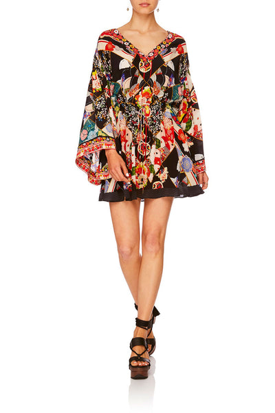 CAMILLA STAR GIRL V-NECK WIDE SLEEVE DRESS