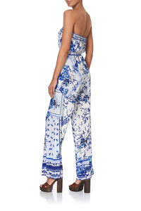 STRAPLESS JUMPSUIT WITH D RING BELT CARDS FROM THE COAST