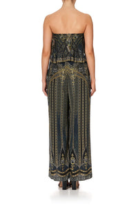 STRAPLESS JUMPSUIT WITH FRILL GREAT SCOTT