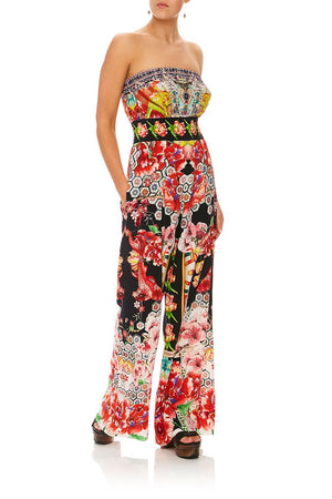 eeb415edf0 STRAPLESS JUMPSUIT WITH JKT BELT PAINTED LAND (L)