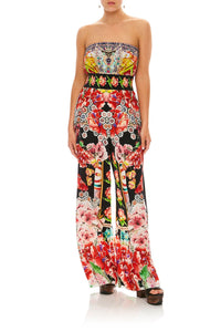 CAMILLA PAINTED LAND STRAPLESS JUMPSUIT W/ JKT BELT