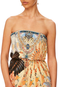 CAMILLA FOR THE FANS STRAPLESS PLAYSUIT W WRAP TIE