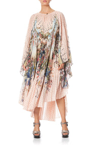 SUNRAY PLEATED KAFTAN KINDRED SKIES