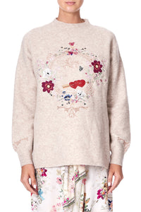 FUNNEL NECK JUMPER JARDIN POSTCARDS