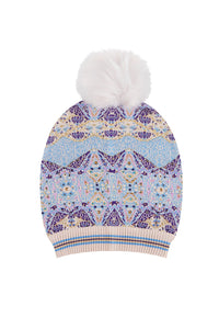 TALES OF TATIANA BEANIE W DETACHABLE POM POM