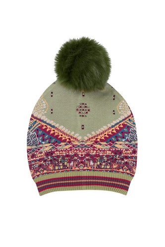 THE CARAVAN BEANIE W DETACHABLE POM POM