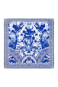 CAMILLA THE FAN SEA LARGE SQUARE SCARF