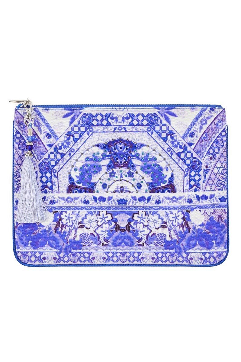 THE FAN SEA SMALL CANVAS CLUTCH