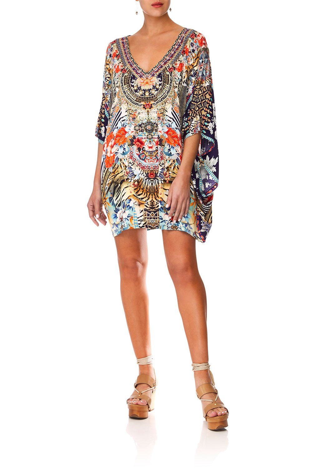 CAMILLA THE LONELY WILD BAT SLEEVE DRESS