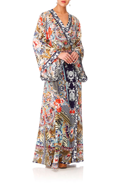 CAMILLA THE LONELY WILD KIMONO WRAP DRESS