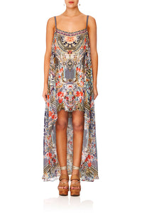 CAMILLA THE LONELY WILD MINI DRESS WLONG OVERLAY