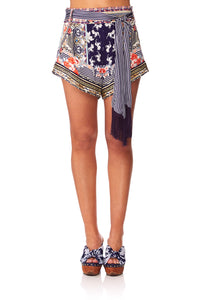 CAMILLA THE LONELY WILD TIE DETAIL HIGH CUT SHORTS