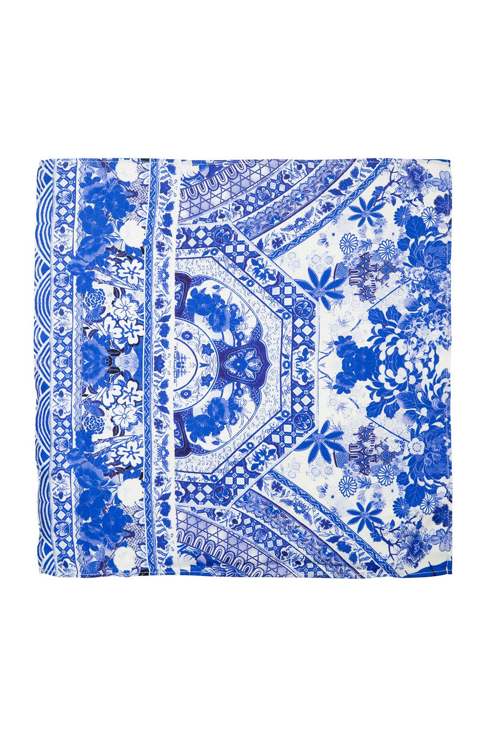 CAMILLA THE FAN SEA MENS POCKET SQUARE