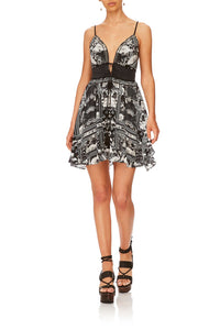 CAMILLA WILD MOONCHILD TIE FRONT MINI DRESS