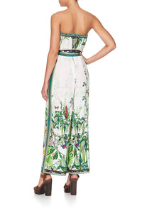 TIE WAIST STRAPLESS JUMPSUIT DAINTREE DARLING