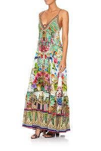 CAMILLA U-RING MAXI DRESS CHAMPAGNE COAST