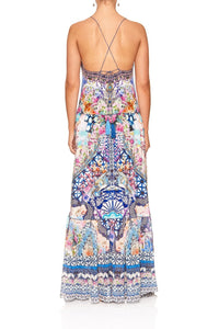 U-RING MAXI DRESS SHIBORI SHORES