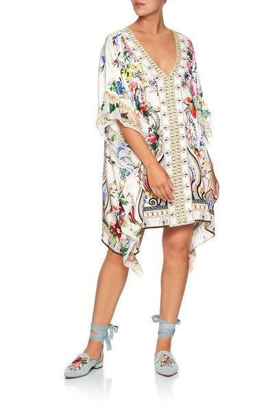 CAMILLA V-NECK KAFTAN WITH RUFFLE SLEEVE BOHEME