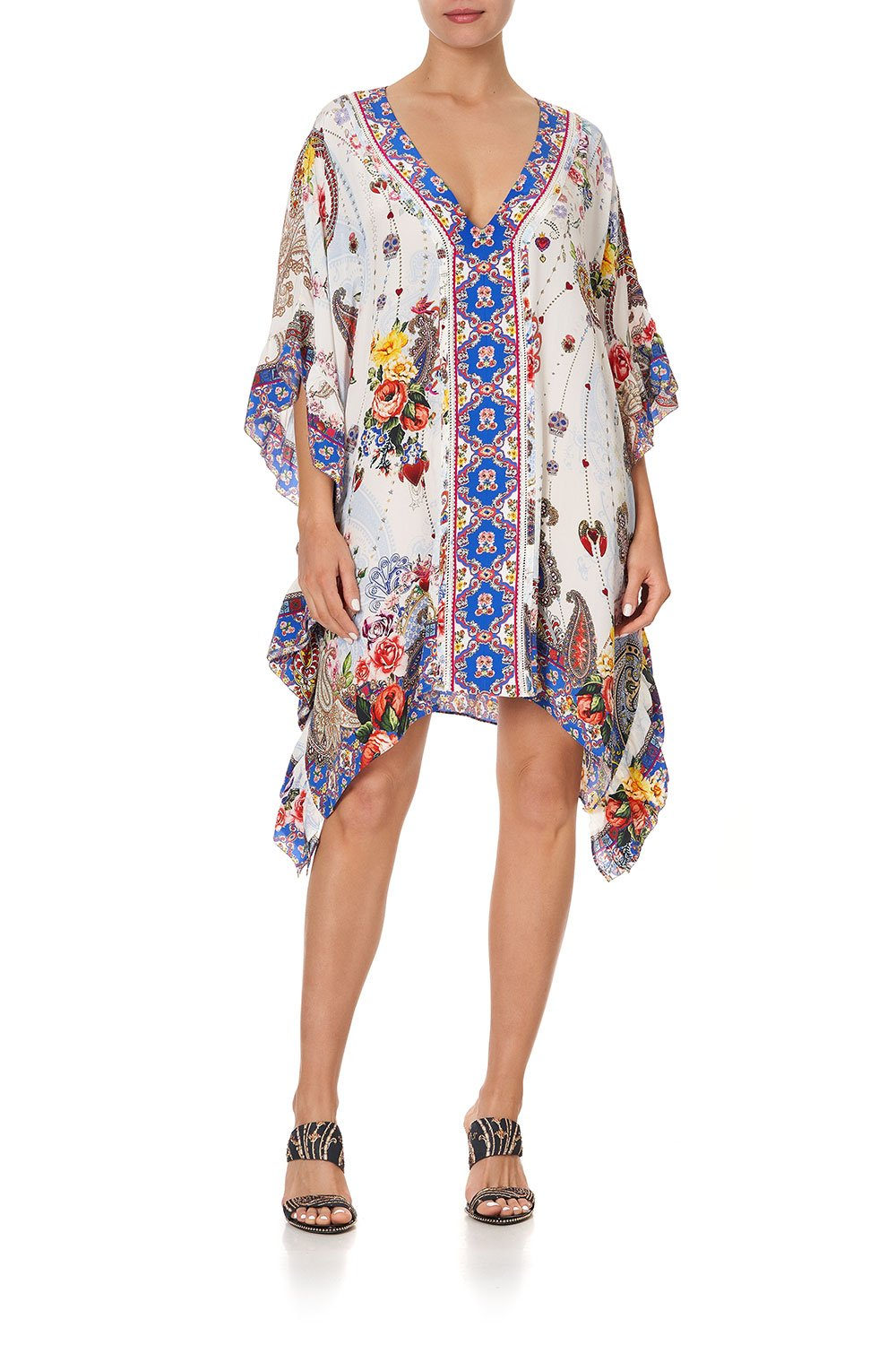 V-NECK KAFTAN WITH RUFFLE SLEEVE FRIDA FREEDOM