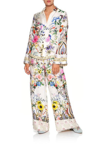 CAMILLA WIDE LEG PANT WITH CUFFS BOHEME