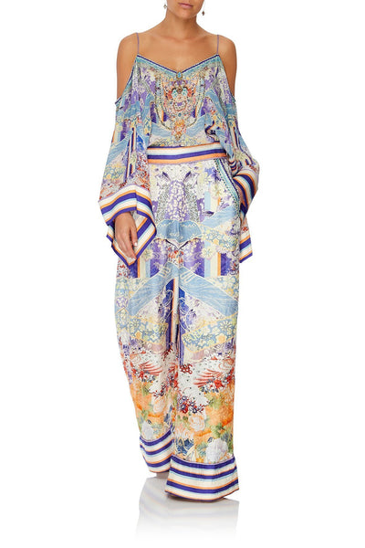 WIDE LEG PANT WITH CUFFS GIRL IN THE KIMONO