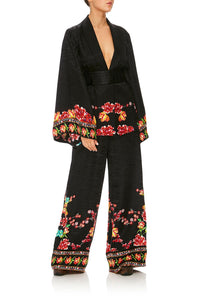 CAMILLA PAINTED LAND WIDE LEG PANT W/ CUFFS