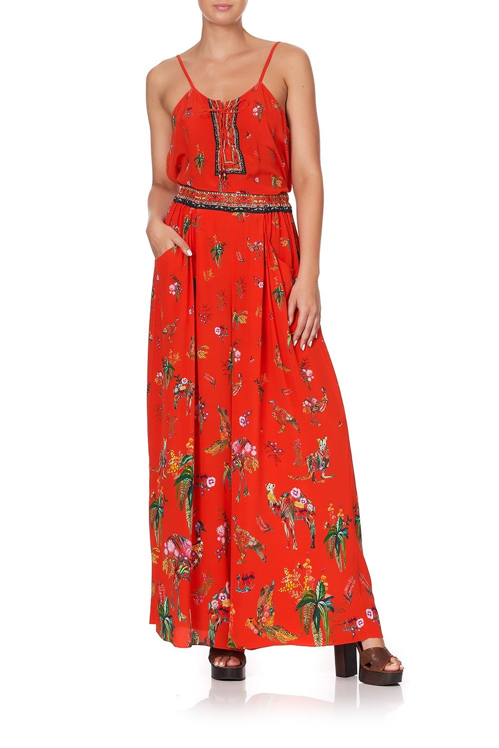WIDE LEG PANT WITH GATHERED POCKETS CINEMA PARADISO