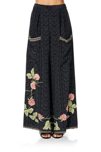 CAMILLA WIDE LEG TROUSER WITH FRONT POCKETS PROVINCIAL PETAL