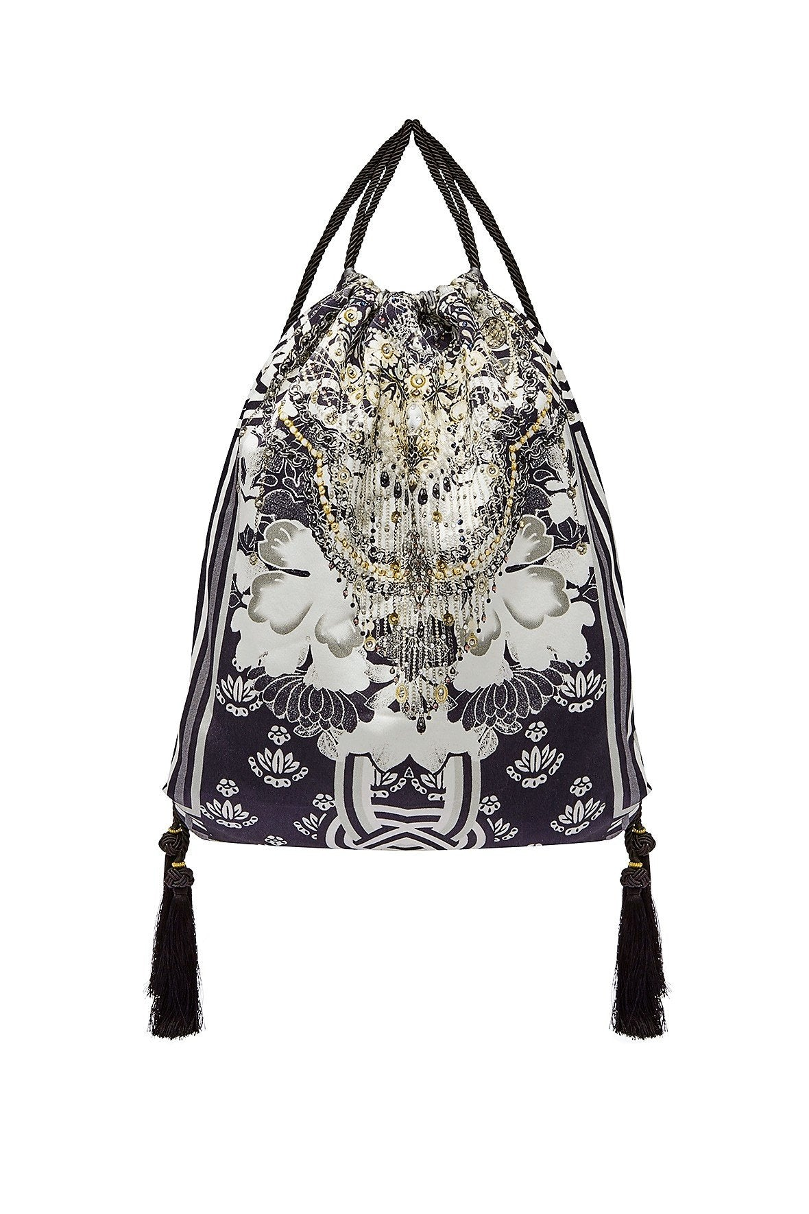 CAMILLA WILD MOONCHILD DRAWSTRING EMBELISHED POUCH