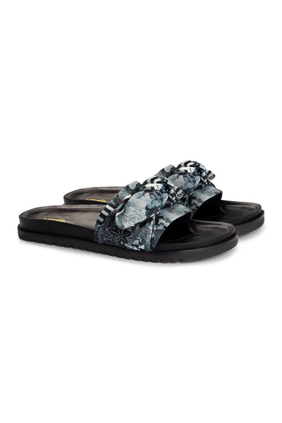 CAMILLA WILD MOONCHILD OBI TIE FOOTBED SLIDE