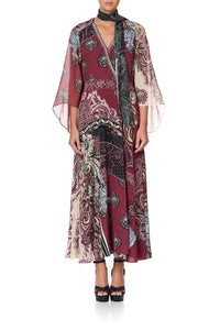 WRAP DRESS WITH NECK TIE TALE OF THE FIRE BIRD