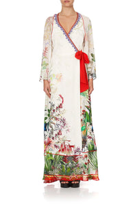 WRAP DRESS WITH PIPING DETAIL FARAWAY TREE