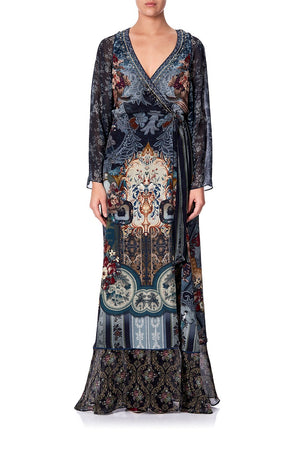 298cf385dad1 WRAP DRESS WITH PIPING DETAIL HOTEL BOHEME WRAP DRESS WITH PIPING  DETAILHOTEL BOHEME