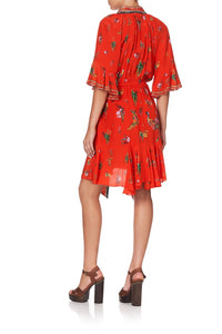 WRAP DRESS WITH RAGLAN SLEEVE CINEMA PARADISO