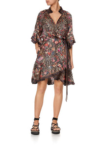 WRAP DRESS WITH RAGLAN SLEEVE LIV A LITTLE