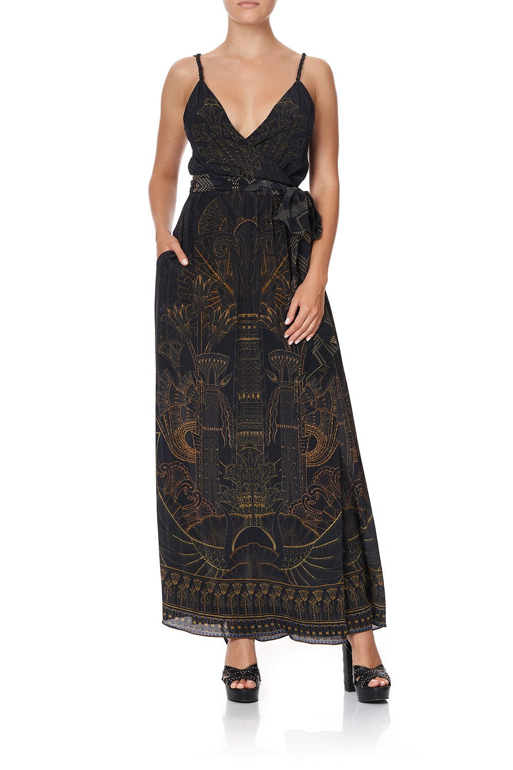 WRAP DRESS WITH TWIST STRAPS COBRA KING