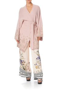 WRAP KNIT WITH KIMONO SLEEVE KINDRED SKIES