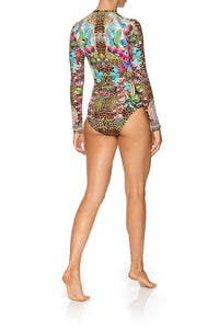 CAMILLA ZIP FRONT PADDLESUIT CHAMPAGNE COAST