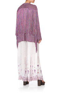 CROCHET LAYERING PIECE WITH LONG TASSELS TANAMI ROAD
