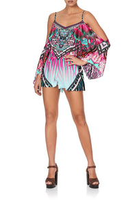 DROP SHOULDER PLAYSUIT RAINBOW EYES