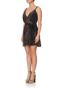 MINI WRAP DRESS WITH TWIST STRAPS GATEWAY TO GIZA