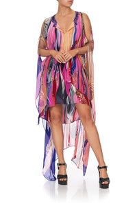 LONG SHEER OVERLAY DRESS FOLK RIVER