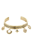 GOLD BRASS CUT OUT BANGLE