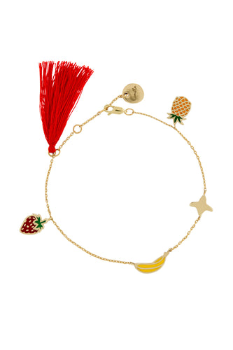 GOLD BRASS TUTTI FRUITI BRACELET