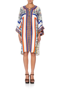 LACE UP FRONT KAFTAN GONE COAST