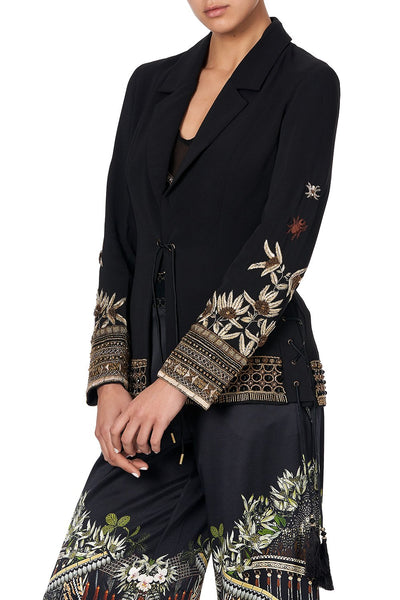 JACKET WITH LACE UP SIDE PANELS BOTANICAL CHRONICLES
