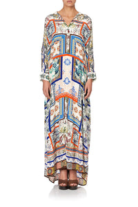 LONG COLLARED KAFTAN GONE COAST