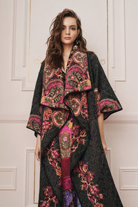 PLACEMENT JACQUARD COAT DAUGHTER'S DESTINY