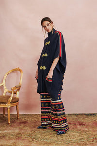 WIDE LEG JACQUARD KNIT PANT COSTUME PARTY